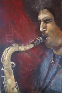 Saxophonist 80 x 140