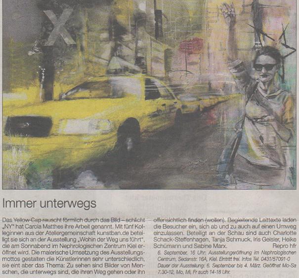 Pressetext der Kieler Nachrichten/Segeberger Zeitung/ Bild - Carola Matthes
